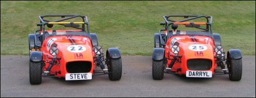 Darryl Beckwith and Steve Lansley's Procomp LA Gold Race Cars
